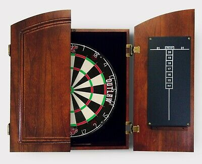 WINMAU DART BOARD CABINET Man Cave Cold Beer Good Mates Play Darts Black & Red