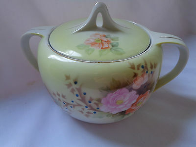 Vintage R.S. Germany Two Handled Bowl With Floral Motif