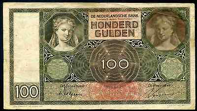 Netherlands. 100 Gulden, AQ 090549, 10-3-1931. Very Good.