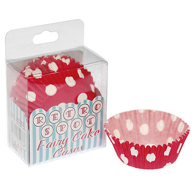 dotcomgiftshop PACK OF 72 RED SPOTTY PAPER CUPCAKE CASES MUFFIN FAIRY CAKE CASES