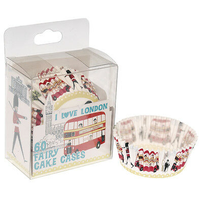 dotcomgiftshop SET OF 60 I LOVE LONDON PAPER CUPCAKE MUFFIN FAIRY CAKE CASES