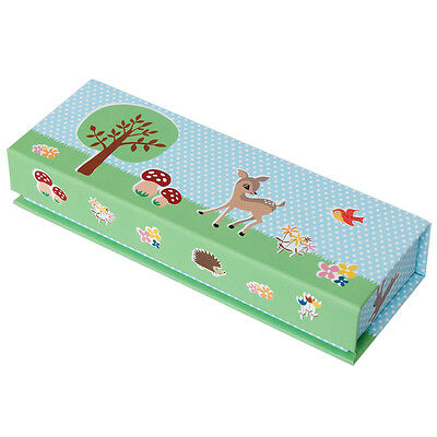 dotcomgiftshop WOODLAND ANIMALS CARDBOARD PENCIL CASE WITH MAGNETIC LID
