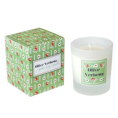 dotcomgiftshop OLIVE VERBENA SOY WAX SCENTED CANDLE IN A GIFT BOX
