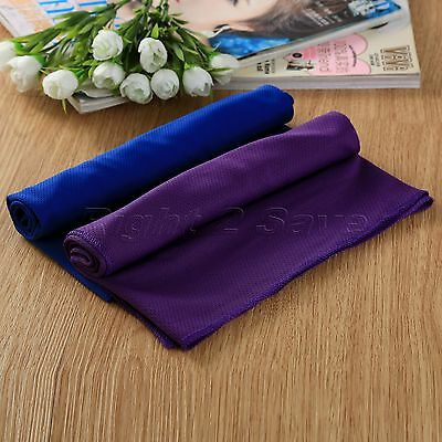 Reuseable Cooling Ice Cold Gym Chilly Sport Cycling Jogging Yoga Towel 90x37cm