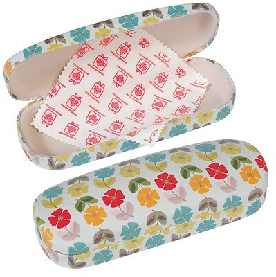 dotcomgiftshop MID CENTURY POPPY DESIGN HARDSHELL GLASSES CASE & CLEANING CLOTH