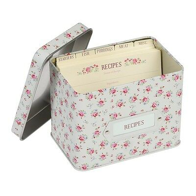 dotcomgiftshop LA PETITE ROSE DESIGN RECIPE TIN