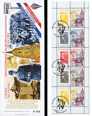 """DG13-4T1 Booklet """"69 years Come back DE GAULLE - Speech of Bayeux / WWII"""" 2013"""