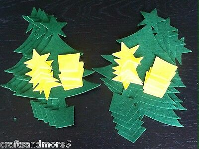 10 Large Christmas Tree Felt  Shapes ~ Approx 20cm high ~ Great for Crafts