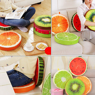 3D Summer Fruit PP Cotton Office Chair Back Cushion Sofa cover for Throw Pillow