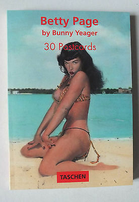 Betty Page - Bunny Yeager - 30 Postcards - Cartes Postales - Taschen 78 - 1996 *