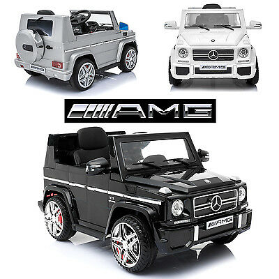 New Kids Licensed Official Mercedes Benz G65 Amg 12V Ride On Wagon Jeep Car