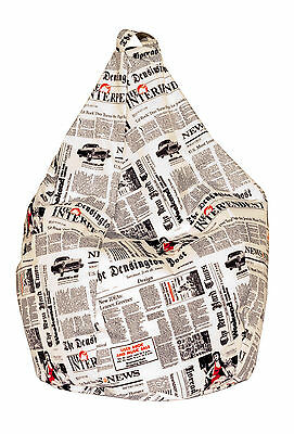 Poltrona Sacco Pouf Puff In Nylon Newspaper  - Idea Regalo