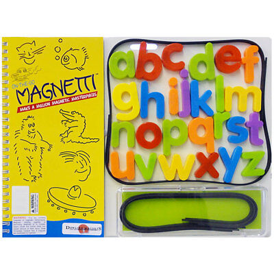 On-The-Go Magnetti - Childrens White Board with Magnetic strips & Letter Magnets