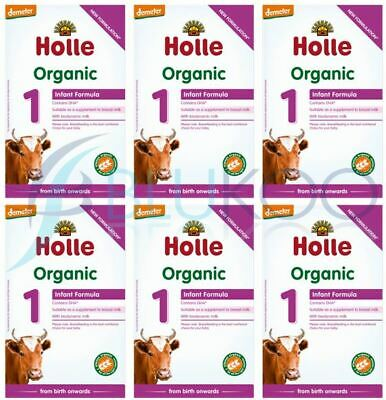 Holle Infant Formula 1 Milk - 400g (Pack of 6)