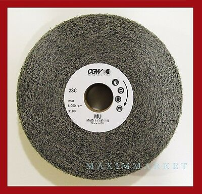 "6"" x 2"" x 1"" Finishing & Deburring Wheel, Silicon Carbide"