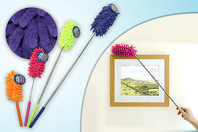 Telescopic Extending Extendable Microfibre Cleaning Duster Cloth Brush