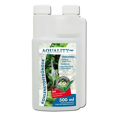 AQUALITY CO2 Engrais de carbone 500 ml engrais pour Aquarium