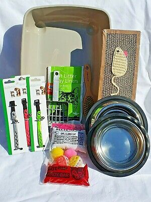 Cat kitten starter kit, starter set, savic litter tray, Reflective collar