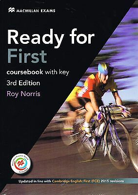 Macmillan READY FOR FIRST 3rd Ed COURSEBOOK Student's Book+Key+MPO 2015 FCE @New