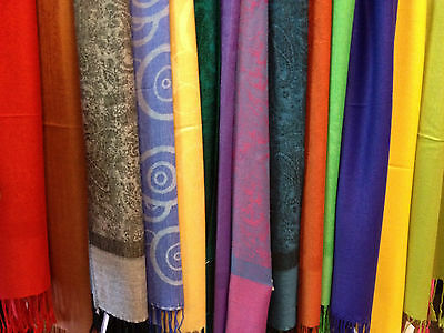scarf pashmina wholesale lot 6pc long scarves