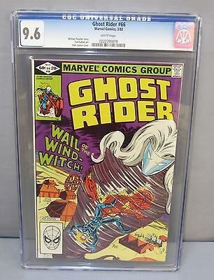 GHOST RIDER #66 (White Pages) CGC 9.6 NM+ shape Marvel 1982