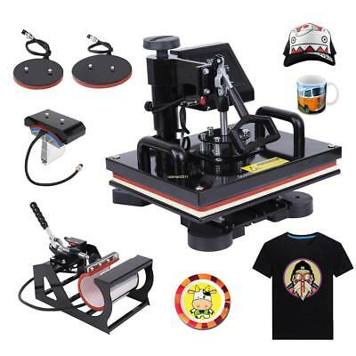 5 in 1 Combo Heat Press Transfer Printing Machine T-Shirt Mug Hat Cap Plate
