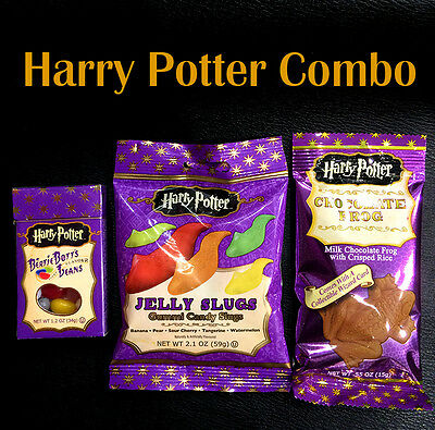 Jelly Belly Harry Potter Bertie Botts +  Jelly Slugs + Chocolate Frogs