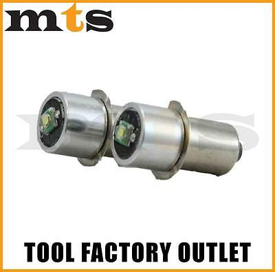 2 X 18V Led Cree Torch Globes / Bulb 260 Lumens Suits Most Major Brands