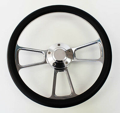 68 69 Charger Dart Coronet Black and Billet Steering Wheel 14""