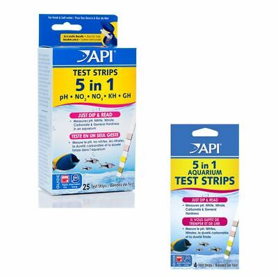 Api Aquarium 5 In 1 Water Test Kit Testing Fresh Or Salt Water Marine Fish Tank