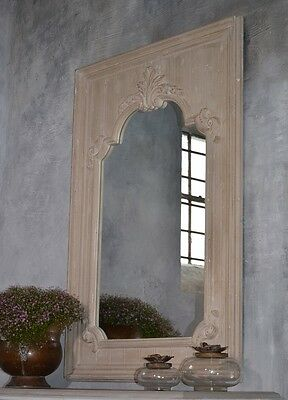 Mirror Large Wooden Frame Antique Provencal Wall Ornate French Style Chic