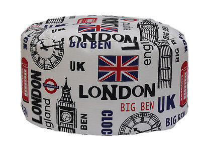 Pouf Bean Bag Tondo Per Interno Sfoderabile London
