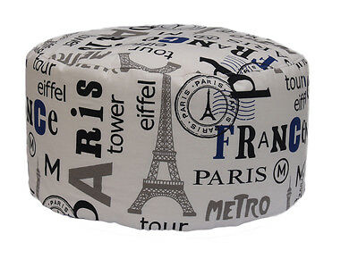 Pouf Bean Bag Tondo Per Interno Sfoderabile Paris
