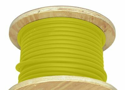 50' 1/0 AWG Welding Cable Yellow Flexible Outdoor Wire