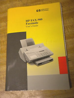 HP Hewlett Packard FAX 900 facsimile user guide manual problem solving