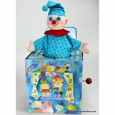 Jack in the Box - Blue - Clown - Nostalgic Toys - Pop Goes the Weasel