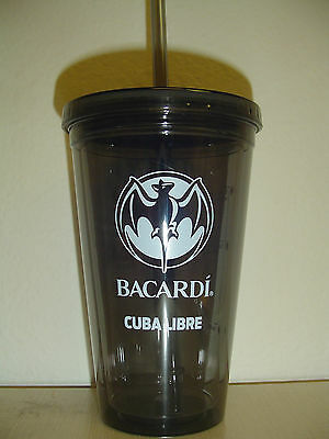 4 (four) Bacardi Cuba Libre 14 ounce insulated plastic cups - New