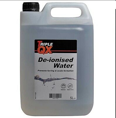 BATTERY & IRON TOP UP DISTILLED DE IONISED WATER 5 LITRE BOTTLE NEW DHL Post