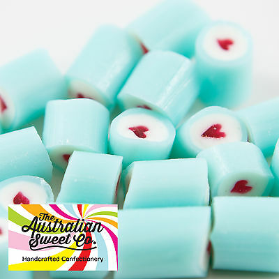 Blue Heart Rock Candy Boiled Bulk Lollies Wedding Favours Party Christmas