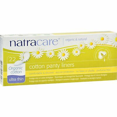 Natracare Ultra Thin Organic Cotton Panty Liners - 22 Pack X 6