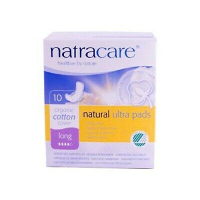 Natracare Natural Uitra Pads Organic Cotton Cover - Long - 10 Pack X 6