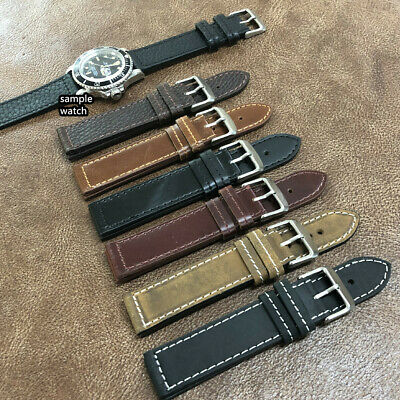 SIZE 20/22MM OILED Cow Leather Watch Strap/Band Army Military Pilot Watch  H-6(B)