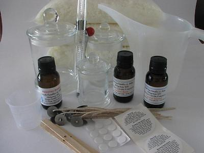 Soy Candle Making Kit - Makes 12 Candles 150ml Fragrance 2.5kg Wax - Supplies