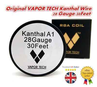 Kanthal A-1 Resistance Wire - 30 Feet Spool - 24 AWG or 28 AWG Gauge