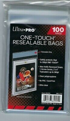 1000 Ultra Pro ONE TOUCH RESEALABLE BAGS NEW magnetic screw card sleeve