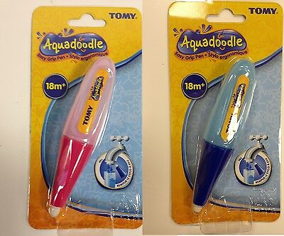 New Tomy Aquadoodle Easy Grip Pens - Ideal For Little Hands - Pink, Blue