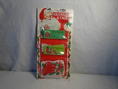 Vintage 60s Package of CHRISTMAS PRESENT Tags Cards by CLEO WRAP Made USA