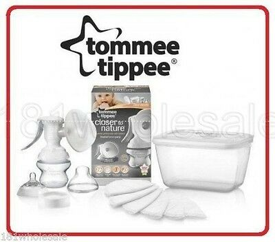Tommee Tippee Closer to Nature Manual Breast Pump Kit +Free Steriliser Freedom