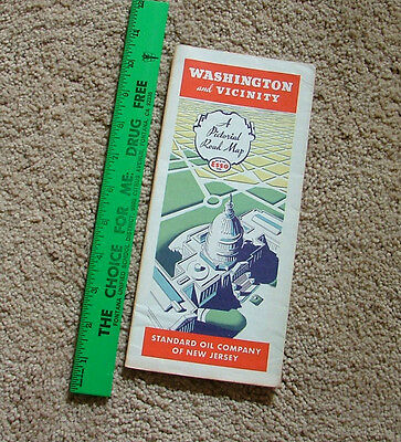 WASHINGTON DC & VICINITY MAP - FROM STANDARD OIL OF NEW JERSEY - 1 MAP - VINTAGE
