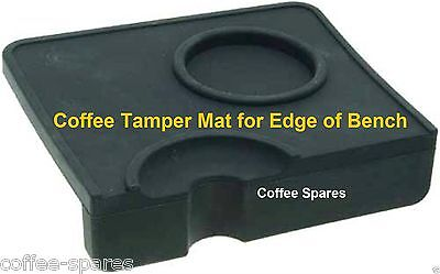 TAMPER MAT for edge of bench with Tamper Holder & Tamping Rest coffee machine